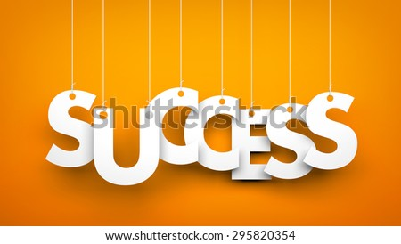 Success - word hanging on the ropes - stock photo