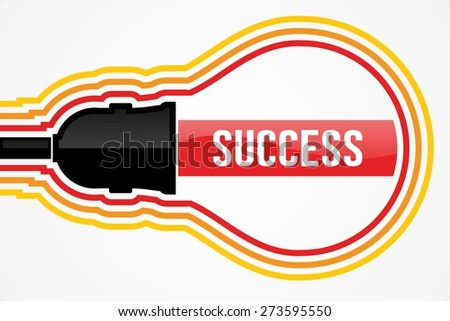 SUCCESS word in lightbulb concept - stock photo