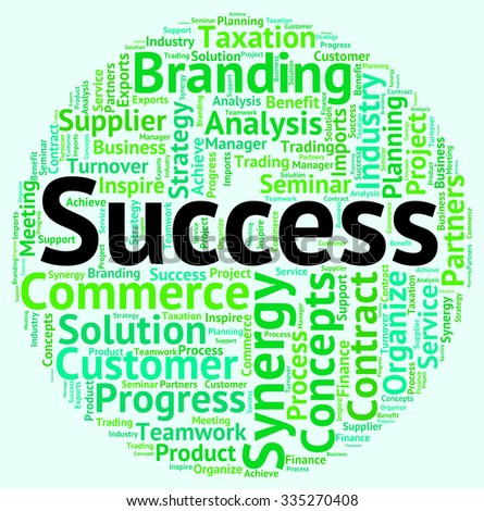 Success Word Meaning Victor Victors And Succeed - stock photo