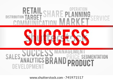 Success word with business concept