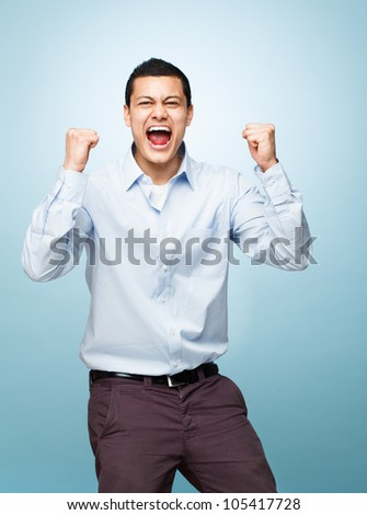 successful attractive young man - stock photo
