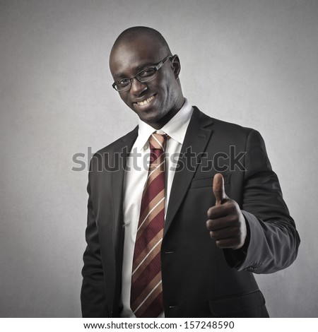 successful black businessman - stock photo