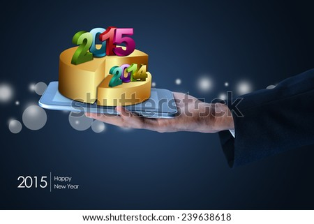 successful business bar and pie graphs 2015 - stock photo