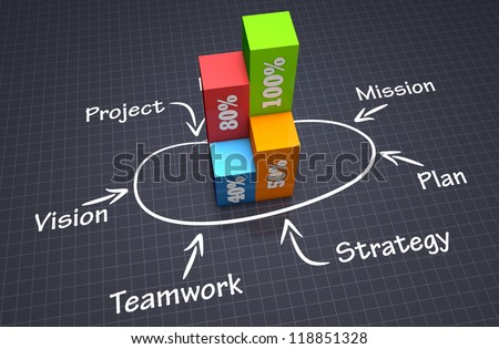 Successful business concept - stock photo