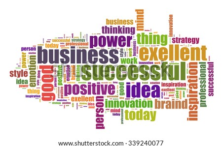 Successful business illustration word cloud concept