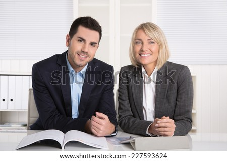 Successful business team or costumer and client in a meeting. - stock photo