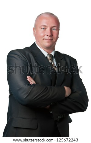 successful businessman isolated on a white background