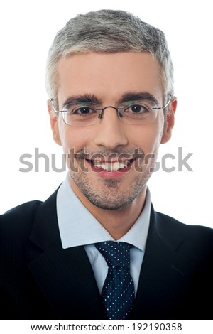 Successful businessman, on a white background