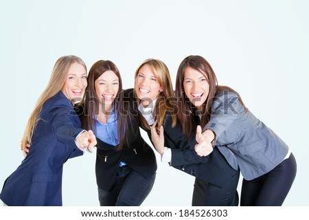 Successful businesswoman team, studio shot