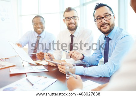Successful colleagues - stock photo