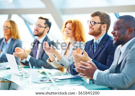 Successful conference - stock photo