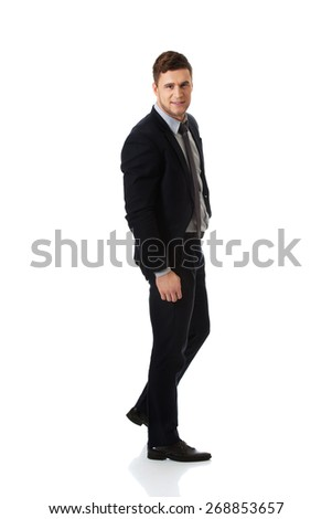 Successful confident businessman in formalwear.