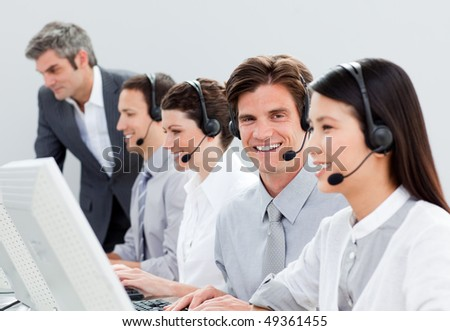 Successful customer service representatives in a call center