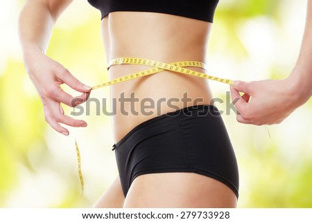 successful diet - stock photo
