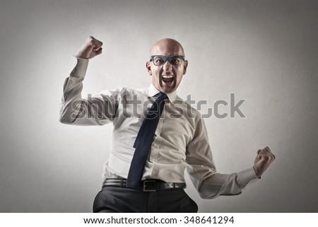 Successful employee - stock photo