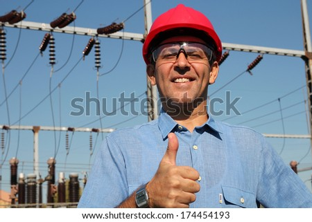 [fb] les angélus // jola&monsiame Stock-photo-successful-engineer-in-red-helmet-showing-ok-sign-engineer-at-electrical-substation-showing-thumbs-174454193