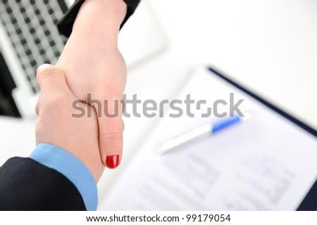 Successful handshake - stock photo