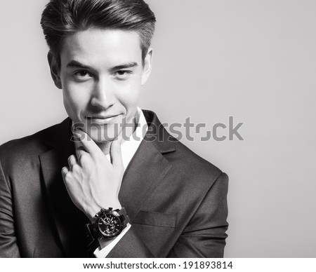 Successful handsome business man.  - stock photo
