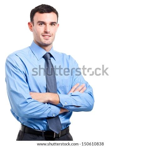 Successful handsome businessman isolated on white  - stock photo
