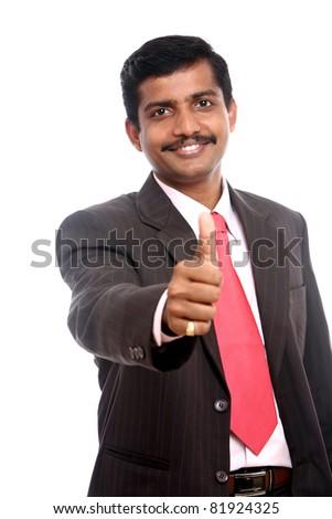 successful indian businessman - stock photo