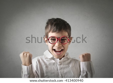 Successful kid - stock photo