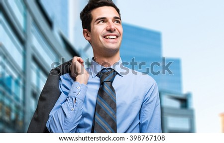 Successful manager in a business center - stock photo