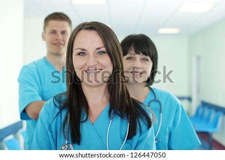 Successful medical team - stock photo