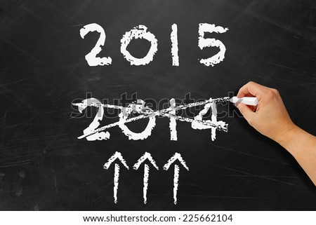 Successful new year 2015 - stock photo