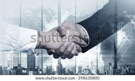 Successful partnership concept - stock photo