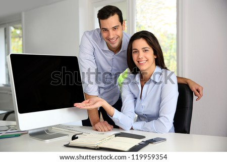Successful start-up showing good results - stock photo