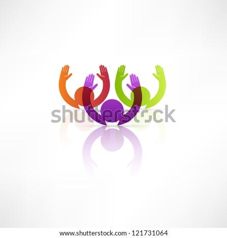 Successful team icon. - stock photo