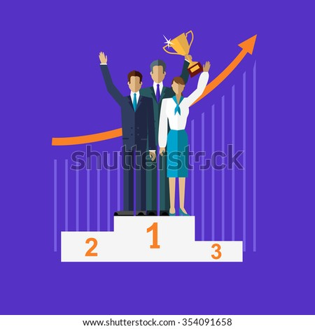 Successful workgroup people design. Teamwork and team, group work, leadership and project management, business people, success businessman, professional manager, partner businesspeople. Raster version - stock photo