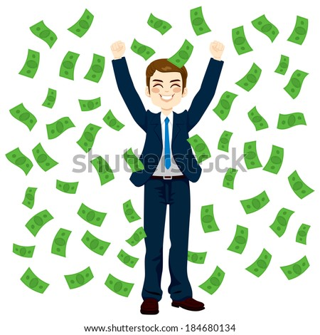 Image result for showering money cartoon