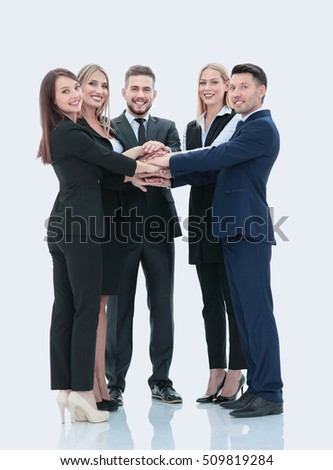 Successfull busines team isolated on white background