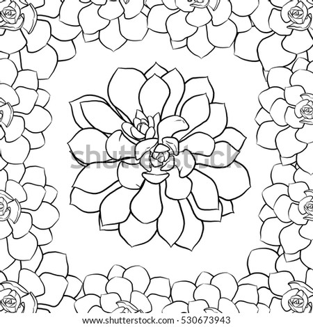 Succulent Coloring Page Stock Illustration 530673943 Shutterstock