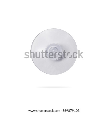 suction cup isolated on white background clipping path or cut out object for montage
