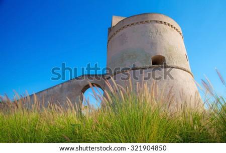 Suda tower, coast of salento, Puglia, Italy - stock photo