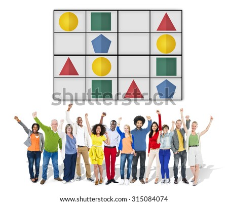 Sudoku Puzzle Problem Solving Leisure Games Concept - stock photo