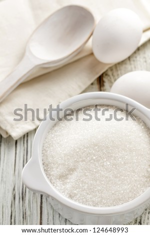 Sugar and eggs