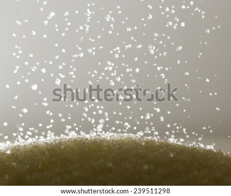 sugar as a background. macro - stock photo