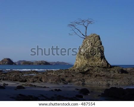 Sugar Beach, Costa Rica - stock photo