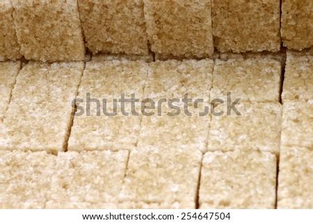 sugar cane cubes background - stock photo