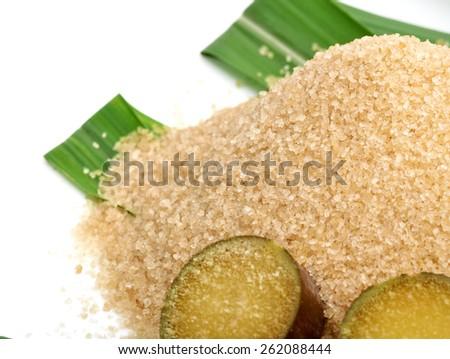 Sugar cane isolated on white background - stock photo