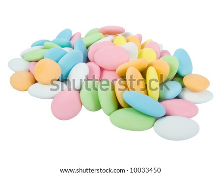 Sugar covered almonds. Traditional Easter sweet. - stock photo