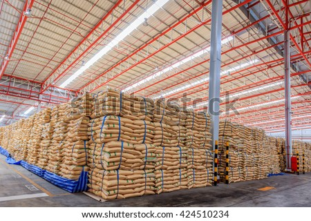 Sugar in Warehouse  - stock photo