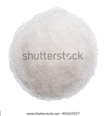 Sugar isolated on the white background clipping path