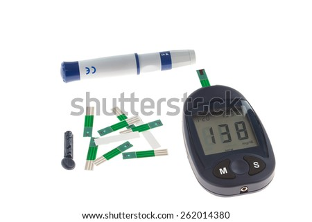 Sugar measuring device - stock photo