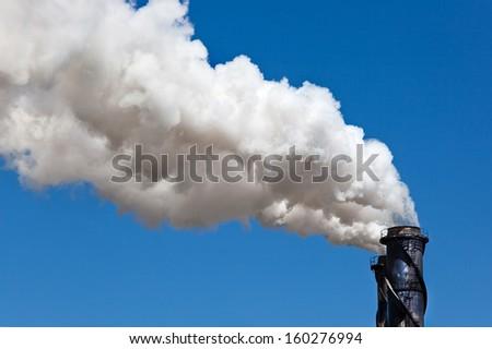 sugar mill smoke stack Tully - stock photo