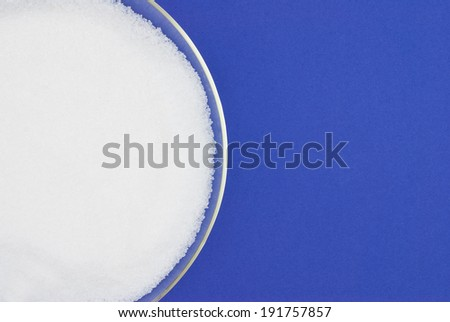 sugar on colored background