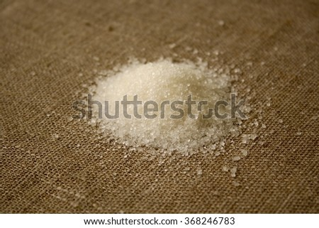 sugar on fabric